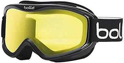 (TG. Medium) Bollé Mojo Maschera da Sci, Shiny Black/Lemon, Medium - NUOVO