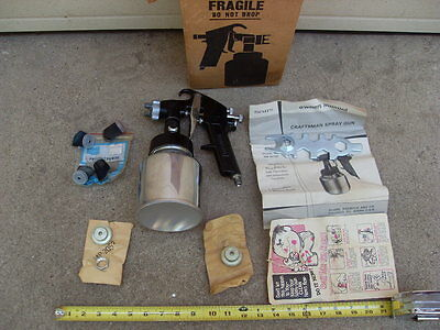 Vintage Craftsman Paint Spray Gun 157121 Unused with Parts and Manual