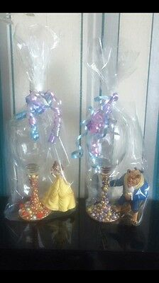 Disney Beauty And The Beast Wine Glasses, Belle And Beast, Set Of 2, Mr And Mrs