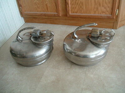 2 SURGE stainless steel milker buckets w/ cups lid pulsator milk can milking ss