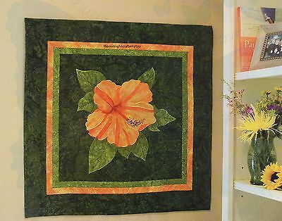 Hibiscus Quilt Pattern Pieced/Applique LH