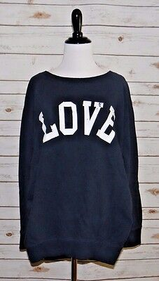 Women's Love Maternity Navy Sweatshirt size Large