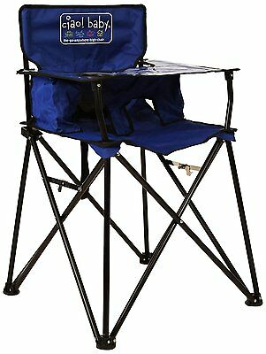 CIAO! BABY HIGH CHAIR, Blue Folding Portable Todler HIGHCHAIR, HB2006