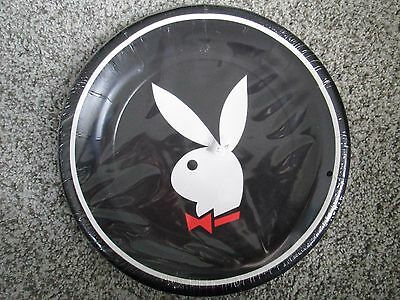 8 Vintage 10 1/4 Inch Playboy Bunny Logo Plates Factory Sealed 1980's