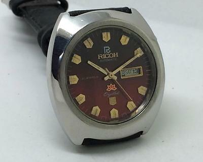 Excellent Ricoh 21 Jewels Day-Date Automatic Original Dial Japan Wrist Watch