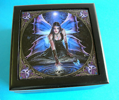 "Anne Stokes Jewellery Keepsake Box ""Immortal Flight"" ~ Small ~ Pre-Owned & Loved"