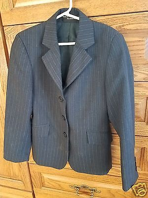 Childrens Hunt Coat by RJ Classics Essentials Collection Navy Pinstripe Size 10R
