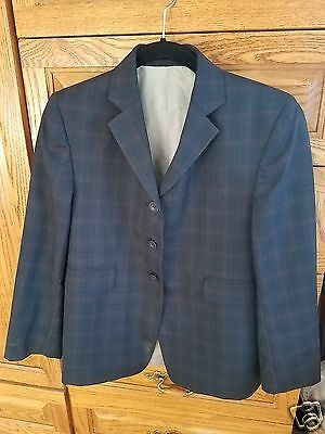 Childrens Hunt Coat by The Elite Navy Plaid Size 18R