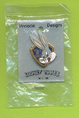 Looney Tunes Bugs Bunny Pin - What's Up Doc   New In Bag  Free Shipping