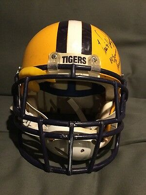Travis Daniels lsu tigers game worn used helmet rare nfl