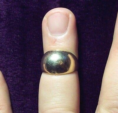 "Vintage 14K Gold ""Dome"" Ring - Size 8.5 - 14mm"