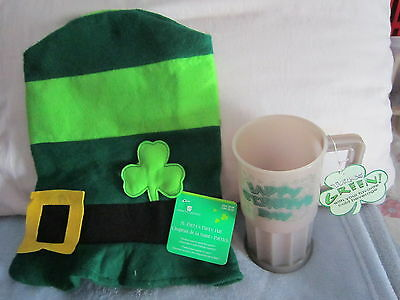 St. Patrick's Day Party Hat & Large Plastic Cup NWT