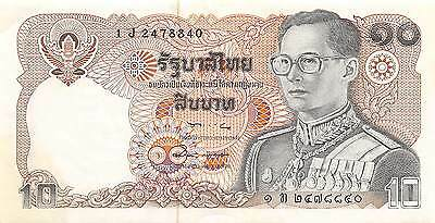 Thailand  10  Baht  ND. 1980  Series 1 J  sign. # 57  Uncirculated Banknote
