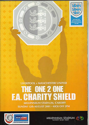 2001 Charity Shield     Liverpool    v    Manchester United      MINT