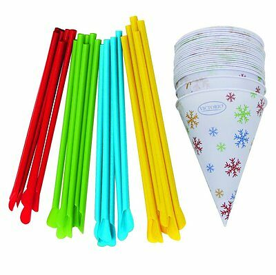 Time for Treats Snow Cone Cups and Spoon Straws 25-Pack by VICTORIO VKP1125