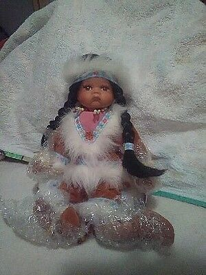 LIMITED EDITION Native American Porcelain Doll by Goldenvale 1 of 2000 Jose