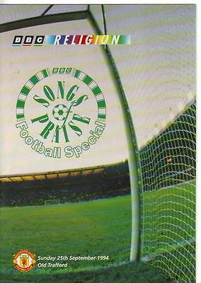 1994    Manchester United    -    Songs Of Praise Programme  -  At Old Trafford