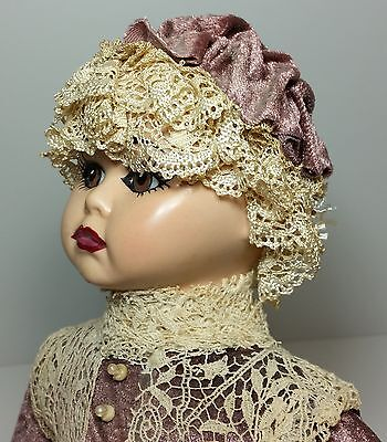 Genuine Original Vintage Linda Carroll Artist Attic Doll ~ Handpainted Porcelain