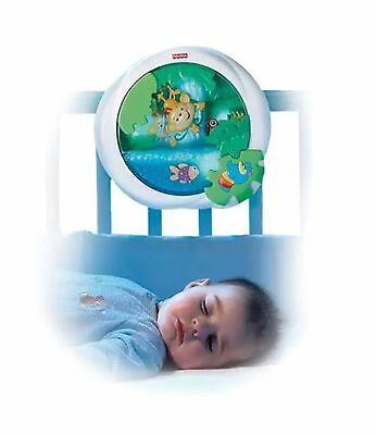 Fisher-Price Baby Rainforest Peek-a-Boo Waterfall Soother White/Blue Brand New