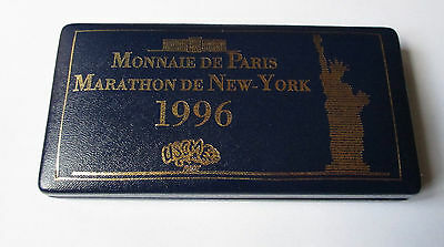 Coffret 4 pin's - USCM (Monnaie de Paris - Marathon de New York 1996)