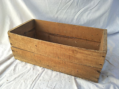 Vintage Industrial WOODEN CRATES - Authentic Rustic Timber Box Decor