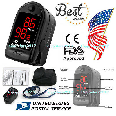 US Shipping CMS50DL FingerTip Pulse Oximeter Blood Oxygen SpO2 Monitor lanyard
