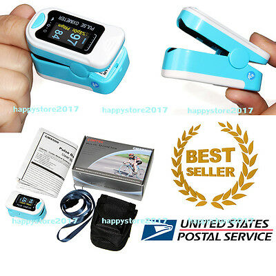 CMS50N OLED FingerTip Pulse Oximeter Blood Oxygen Meter SpO2 PR Monitor USA SHIP