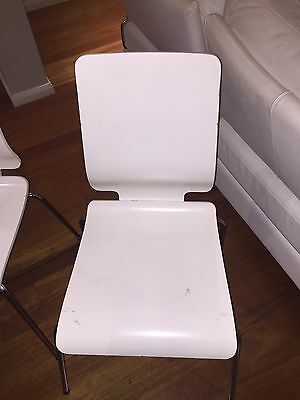 set of 8 ikea white dining room chairs aud picclick au