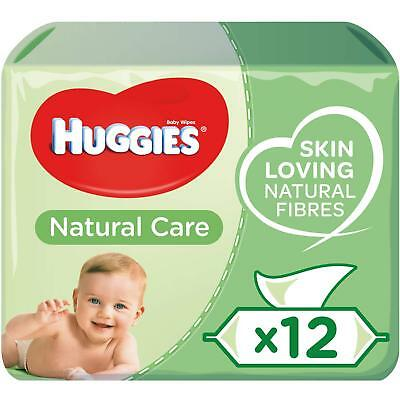 Huggies Natural Care Baby Wipes Fragrance & Alcohol Free 12 Pack Total 672 Wipes