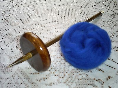 Bottom Whorl Drop Spindle 2.4 oz & Wool Kit To Hand Spin Yarn Free Shipping