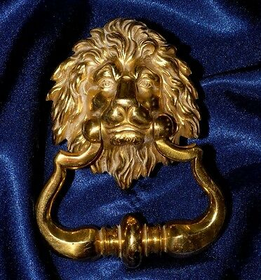 "French Vintage Lion Solid Brass Door Handle/ Knocker 5"" x 4"""