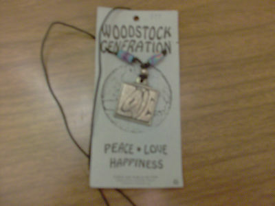 Pewter Medallion Collectible Woodstock Generation inscribed LOVE original packag