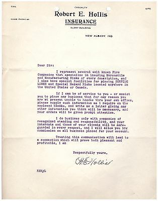 1918 Letterhead New Albany Indiana Pre Printed Sale Letter