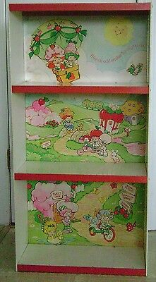 Vintage 1980's Original RARE Strawberry Shortcake Bookshelf/Display Shelf/Case