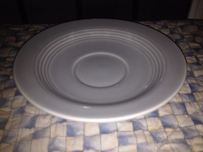 Vintage Homer Laughlin Harlequin Saucer Plate GREY GRAY HLC Pottery