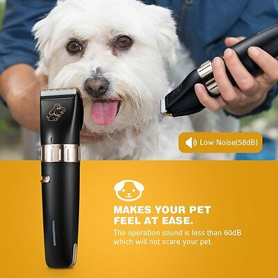 Patec Dogs and Cats Electric Clipper, Pet Hair Shaver, Grooming Trimmer Kit, wit