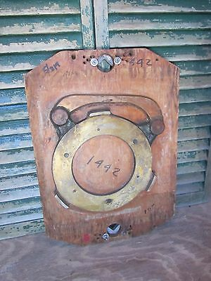 Vintage Industrial Wooden Foundry Mold Board Wood Steampunk Wall Art Antique Old