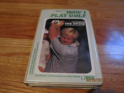 """1973 How I Play Golf- Jack Nicklaus Volume I """"the Swing""""- Book & 2 Cassettes"""