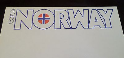 ss Norway . Norwegian Caribbean Cruise Line Stationery 1980 Ship ex France Write