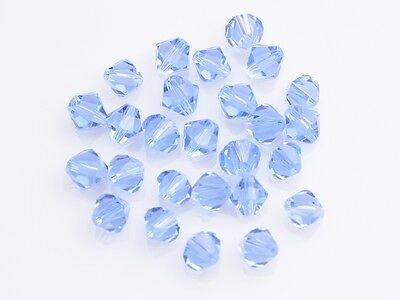 200x Whiolesale 3mm Bicone Faceted Crystal Glass Loose Spacer Beads Light Blue