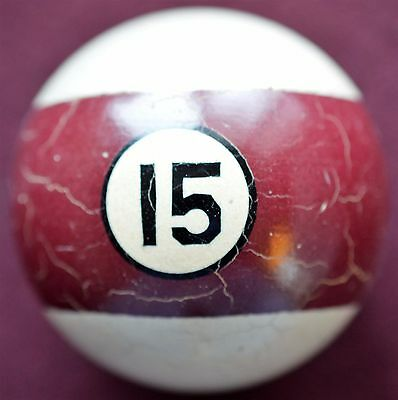 Antique Number Fifteen Pool Ball