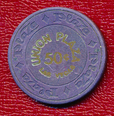 Union Plaza Casino 50 Cent Gaming Chip **las Vegas, Nevada** Nice Chip!