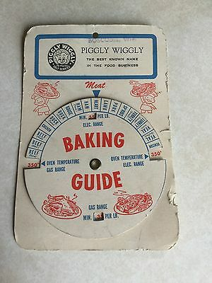 Piggly Wiggly Vintage Baking Guide Boscobel, WIS Gas Or Electric Oven