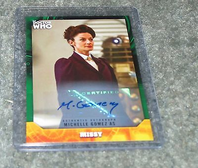 2017 Topps Doctor Who Signature Missy Green Autograph 04 / 50