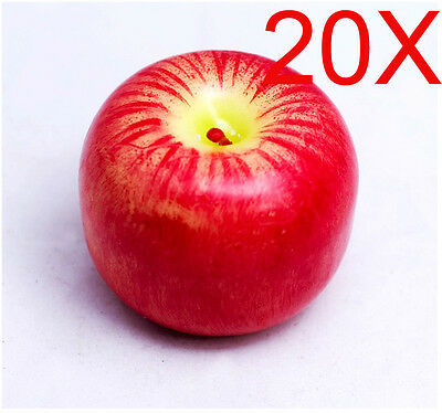 Christmas Red Apple-Shaped Smoke-Free With Scented Candles Wholesale Lots 20 PCS