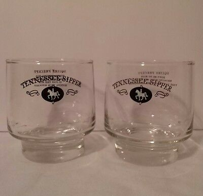 Vintage set of 2 Jack Daniels Tennessee Sipper Squire Perfect Glasses