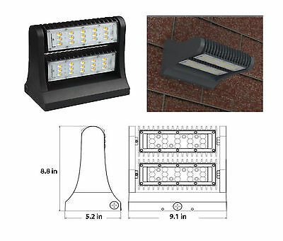 LED Wall Pack Outdoor 40W & 80W Adjustable UL DLC Listed Replace 150w-450w MH