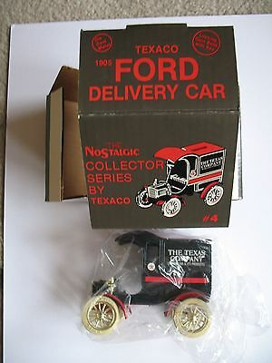 Brand New Texaco Nostalgic 1905 Ford Delivery Car Bank #4 Collector Series 1987