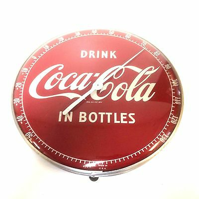 Vintage Coca Cola Thermometer Round In Bottle