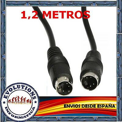 Cable S-Video 4 Pin Macho - Macho 1,2 Metros Nuevo Svideo